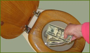 money-down-the-toilet