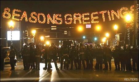 SeasonsGreetings_FergusonMO_GrandJuryAnnouncement_Cops_112414
